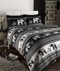 details about empire n elephant animal print king bed duvet empire n elephant animal print king bed duvet quilt cover bedding set black in home