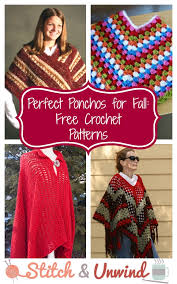 Free Crochet Poncho Patterns Delectable Crochet Poncho Pattern Collection 48 Free Patterns Stitch And Unwind