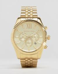 men s designer watches luxury watches for men asos michael kors mk8281 lexington gold chronograph watch