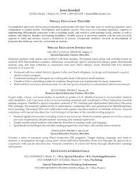 Paraprofessional Resume Samples Luxury Special Education Teacher Cover  Letter Examples Choice Image