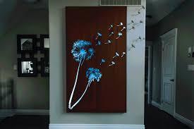 backlit dandelion gif on custom cut metal wall art with dandelion custom laser cut metal art wall decor