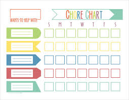 Sample Kids Chore Chart Template 8 Free Documents In Pdf