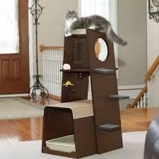cool cat tree furniture. Sauder Modular Modern Cat Tree Without Carpet Cool Furniture E