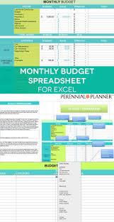 Monthly Budget Spreadsheet Household Money Tracker Microsoft Excel