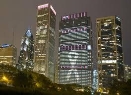 Blue Cross Blue Shield Building Lights Bluecross Blue Shield Of Illinois