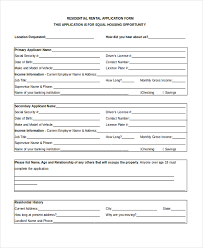 rent application form doc sample apartment rental application form 8 free documents in word