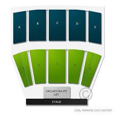 Carl Perkins Civic Center 2019 Seating Chart