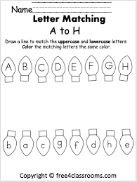 You are not required to register in order to use this site. Free Christmas Letter Matching Worksheet A To H Free4classrooms