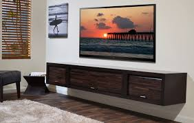 In Wall Entertainment Cabinet Floating Tv Stand Entertainment Center Eco Geo Espresso Woodwaves