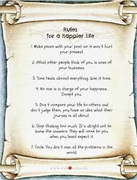 Rules For A Happier Life Quote Amazing 7 Rules Of Life Quote