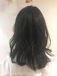 韓国好きなお客様 レイヤーをいれて軽く 黒髪で韓国人風にkenje横浜