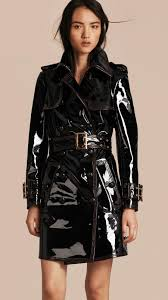 gotta love a patent leather trench for that public feel burberry