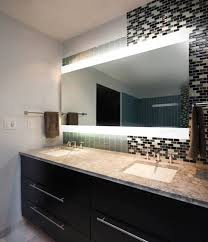 Modest Perfect Lighted Bathroom Mirror Lighted Bathroom Mirror And