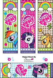 Small Picture Bookmarks My Little Pony Bookmarks Free Printable Ideas from