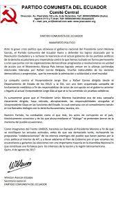 Resultado de imagen para jorge glas carta del partido comunista