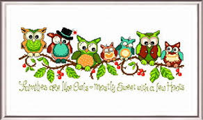 Owl Cross Stitch Pattern Classy A Few Hoots Cross Stitch Pattern Owl