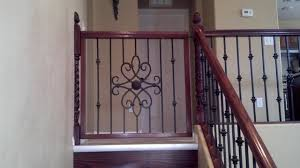 delightful wood baby gates for stairs