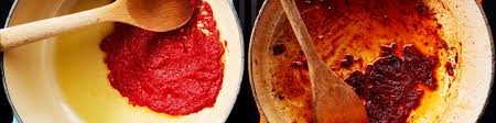 It has some tomato paste to thicken it, it has spices and aromatic vegetables like onions, carrots and garlic, just like tomato sauce. Tomato Paste Are You Cooking It Long Enough Epicurious