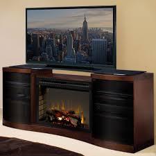 acton walnut multi fire xd electric fireplace entertainment center w logs gds33hl