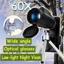 <b>40X60 Zoom</b> Optical <b>HD</b> Night Vision <b>Phone</b> Camera Monocular + ...