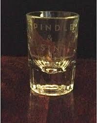 retro shot glass set of 2