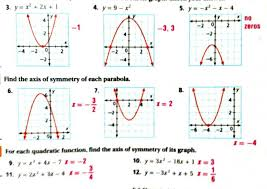 terrific algebra math with mr barnes solving quadratic equations by graphing worksheet answers 4 2 ph