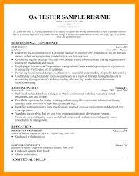 Qa Tester Sample Resume Socialum Co