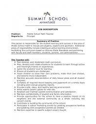 Math Teacher Sample Resume Resume Online Builder