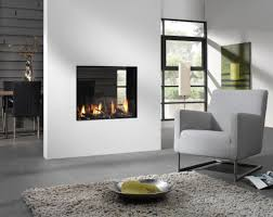 Accessories: Dining Room Lounge Double Sided Fireplace - Wall Mounted  Fireplace