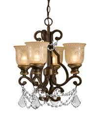 crystorama norwalk 4 light clear crystal bronze mini chandelier