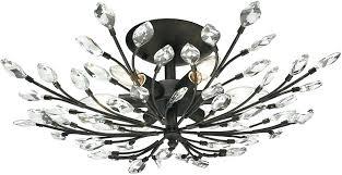 semi flush mount crystal chandelier furniture lighting s transitional round crystal