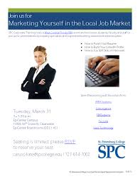 learn how to market yourself in the local job market careers 31 marketing yourself flyer