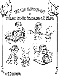 Small Picture House of Hugs Fire Safety Coloring Page