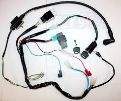full kick start engine wiring harness loom light wire 125cc 140cc Trailer Wiring Harness at Pit Bike Wiring Harness Kits