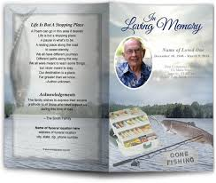 How To Make A Funeral Program Angler Funeral Program Template
