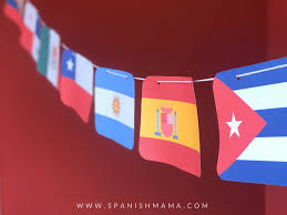 Learn a little bit about spain and its flag with this colouring. Spanish Speaking Countries Flags And Free Printable Banner