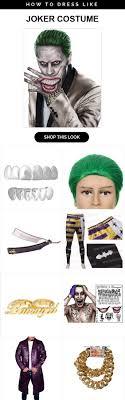 squad joker costume infographic