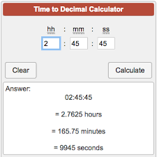 Time To Decimal Calculator