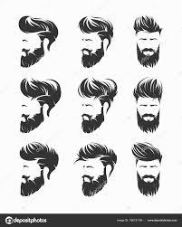 ファッション イラスト 手グラフィックス ひげと口ひげを持つ男性の髪型