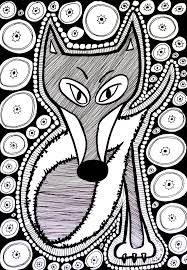 Free Coloring Page Coloring Difficult Fox