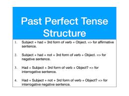 Abiding Perfect Tenses Chart Tense Rule Chart Simple Tense