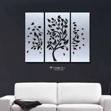 metal tree wall art set of 3 panels