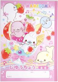 mamegoma seal notepad drawing book ice cream strawberry