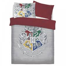harry potter witchcraft and wizardy grey panel duvet set bed quilt cover bedding double 709978