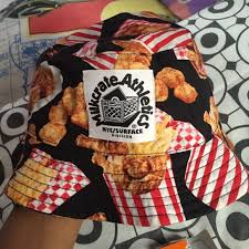 fried chicken bucket hat. Plain Fried Fried Chicken Bucket Hat With C