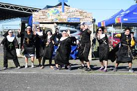 The Lifeline Sister Act crew busting a move. Alex Logan, ...   Buy Photos  Online   Queensland Times