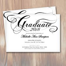 Senior Party Invitations Customizable Script 2018 Graduation Party Invitations Instant Download