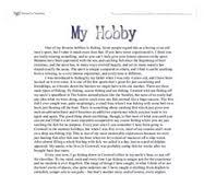 essay my hobby charlotte perkins gilman the yellow wall paper a hobby is an activity which is pursued in leisure time mainly for recreation and replenishing the energy lost through work i have much affection to her