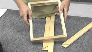 Making a picture frame Bed Frame How To Make Canvas Frame Youtube How To Make Canvas Frame Youtube