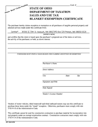 769a Ohio State Tax Exempt Form Fill Online Printable Fillable